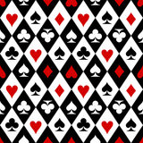 Playing cards suit symbols pattern. Playing cards suit symbols seamless pattern Royalty Free Stock Images