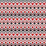 Playing cards suit symbols seamless pattern. Design Royalty Free Stock Photography