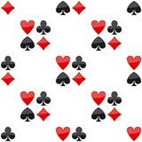 Playing Cards Suits Icon Seamless Pattern Royalty Free Stock Image