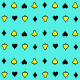 Playing Cards Suits Pattern Background 2 Vector EPS10, Great for any use. Stock Photo