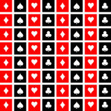 Playing Cards Suits Pattern Background 4 Vector EPS10, Great for any use. Stock Image