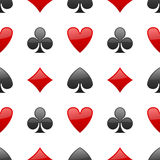 Playing Cards Suits Seamless Pattern Stock Photos