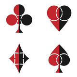 Playing cards suits symbols Royalty Free Stock Images