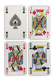 Playing cards suits Royalty Free Stock Images