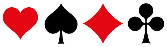 Playing Cards Symbols Stock Photography