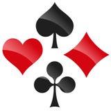 playing cards symbols Stock Photos