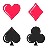 Playing cards symbols Royalty Free Stock Image