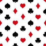 Playing cards symbols set seamless pattern eps10 Stock Photo
