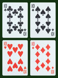 Playing cards - Ten Royalty Free Stock Images