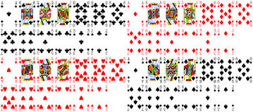 Playing Cards Texture. Full Deck vector illustration