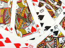 Playing cards texture. Many differents playing cards texture Stock Photo