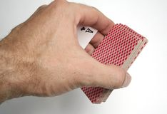 Playing cards tricks focuses Stock Photos