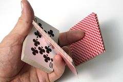 Playing cards tricks focuses Stock Images
