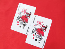 Playing cards-Two Jokers stock images