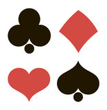 Playing cards in vector royalty free illustration