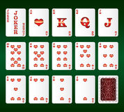 Playing cards vector. All the Hearts Royalty Free Stock Photos