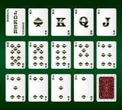 Playing cards vector. All the Spades Royalty Free Stock Photos