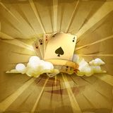 Playing Cards  vector background Stock Photo