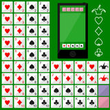 Playing Cards. Vector flat game design for app royalty free illustration