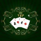Playing cards vip design stock illustration