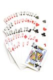 Playing cards on white Royalty Free Stock Images