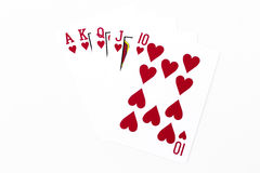 Playing cards  on white background Stock Photo