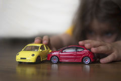 playing with cars Stock Photos
