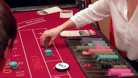 Playing in the casino betting stock video footage