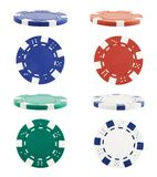 Playing casino chips isolated Royalty Free Stock Image