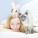 Playing With Cat Royalty Free Stock Photo