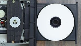 Playing a CD stock video footage