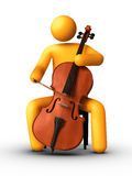 Playing Cello Royalty Free Stock Image