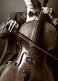 Playing the cello royalty free stock photo
