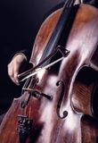 Playing the cello Royalty Free Stock Images
