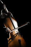 Playing cello concert Royalty Free Stock Image