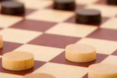 Playing checkers Stock Photo