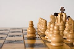 He is playing chess Stock Photo