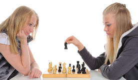 Playing chess Royalty Free Stock Photo