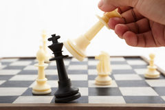 Playing chess Stock Images