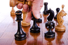 Playing chess Royalty Free Stock Image