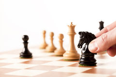 Playing chess Royalty Free Stock Photos