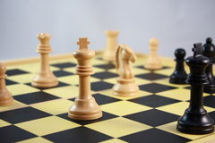 Playing Chess Royalty Free Stock Images