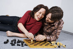 Playing Chess Game Royalty Free Stock Images