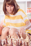 Playing chess game Royalty Free Stock Photo