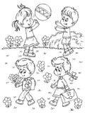 Playing children stock illustration