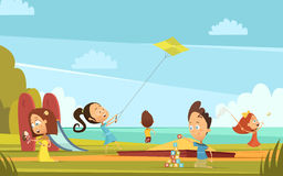 Playing Children Background Stock Photography