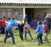 Playing with children in Ecuador Royalty Free Stock Photography