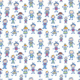 Playing children seamless pattern background Royalty Free Stock Images