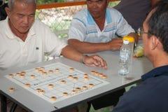 Playing Chinese Chess Stock Image