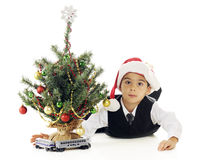 Playing Christmas Train Royalty Free Stock Photos
